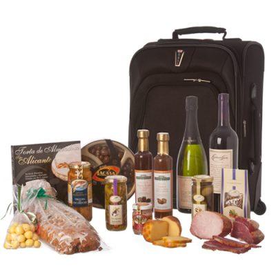 valija con productos gourmet