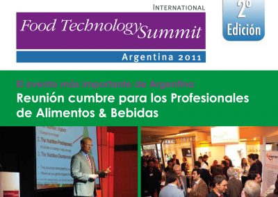 Brochure para venta de Conferencias Internacionales – Sector Food Technology