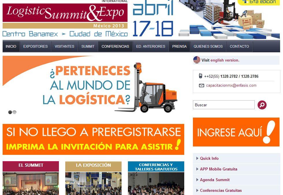 Desarrollo web para Conferencias y Expo de Logística en México