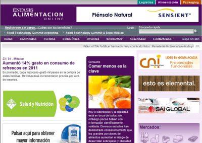 Nueva web para Énfasis Logística / Packaging / Alimentación