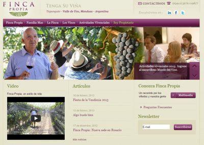 Diseño y lanzamiento de la nueva web de Finca Propia