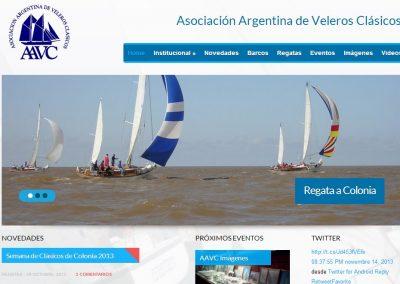 Nuevo sitio web para la AAVC,mas funcionalidades para socios e inscriptos a regatas.