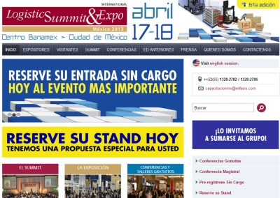 Diseño de Lanzamiento de la web de Logistic Summit & EXPO México