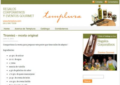Diseño y lanzamiento del blog de Templura