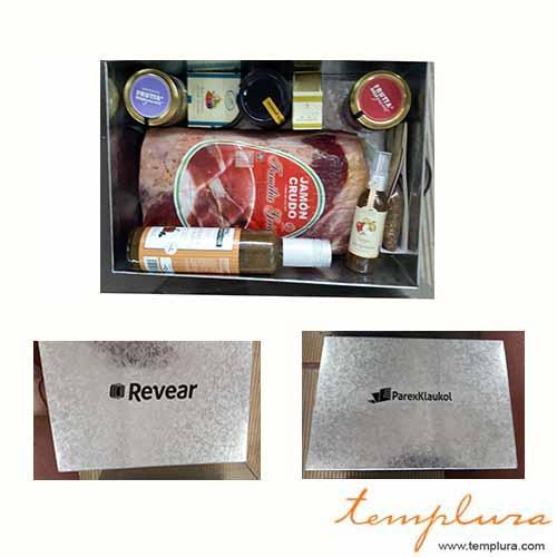 regalo gourmet con jamon crudo