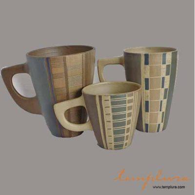 tazas de ceramica de gres
