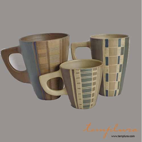 Tazas artesanales con asas for Pasta para ceramica gres